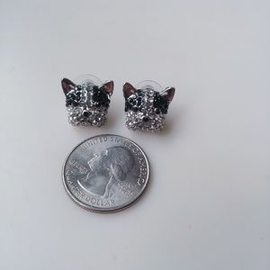 Jewelry - 🆕💎 French Bulldog Dog Pave Crystal Stud Earrings